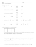 New York State 5th Grade Math Mid-Module 1 Review Workshee
