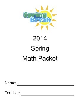 """New York State 5th Grade Math Module 1-5 Spring Break """"Review"""" Packet"""