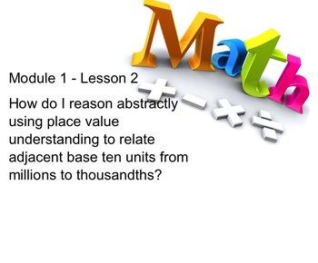 NYS 5th Grade Math Module 1 Lesson 2 Smart Notebook Lesson