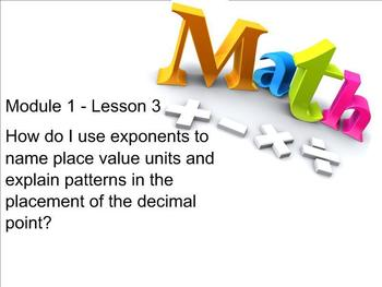 NYS 5th Grade Math Module 1 Lesson 3 Smart Notebook Lesson Place Value