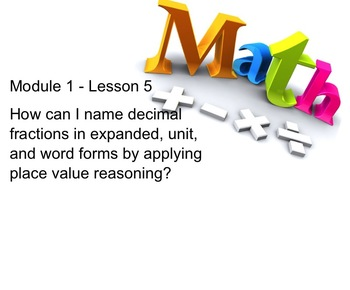 NYS 5th Grade Math Module 1 Lesson 5 Smart Notebook Lesson Place Value