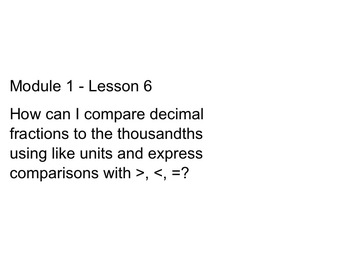 New York State 5th Grade Math Module 1 Lesson 6 Smart Note