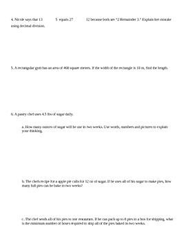 New York State 5th Grade Math Module 2 End of Module Review Worksheet