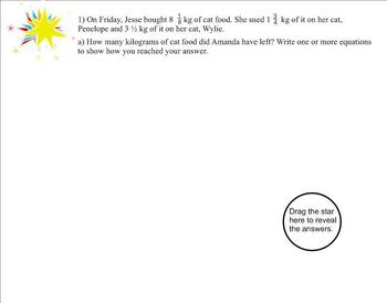 New York State 5th Grade Math Module 3 End of Module Review SMARTboard Activity
