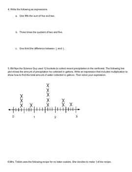 New York State 5th Grade Math Module 4 Mid Module Review Document
