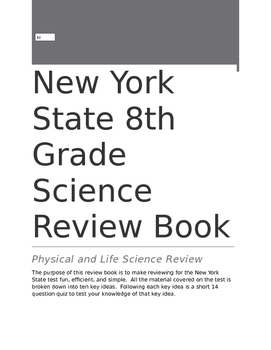 New York State 8th Grade Science Review Book