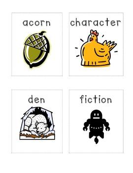 New York State Common Core Kindergarten ELA Domain 3 Vocabulary Cards