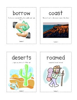 New York State Common Core Kindergarten ELA Domain 6 Vocab