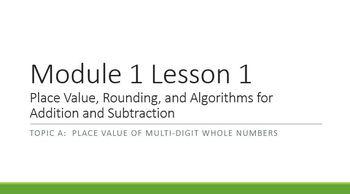 Math Module 1.1 Sample Engage NY 4th Fourth grade