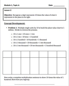 New York State Common Core Math Grade 4 Module 1 Guided Notes