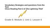 New York State ELA Module 1: Unit 1: Lesson 6