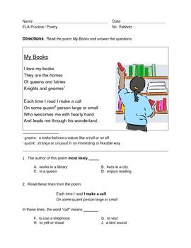 New York State ELA Practice -- Poetry -- My Books