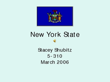 New York State Facts PPT - 50 States Project