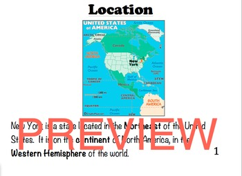 New York State Geography Easy Reader