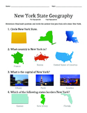 New York State Geography Pre Post Assessment with Pictures