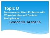 New York State Grade 5 Math Common Core Module 2 Topic D Lesson 13-15