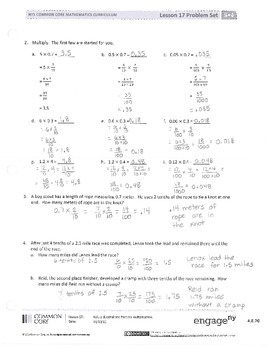 New York State Grade 5 Math Common Core Module 4 Lesson 17-20 Answer Key