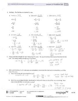New York State Grade 5 Math Common Core Module 4 Lesson 17 ...