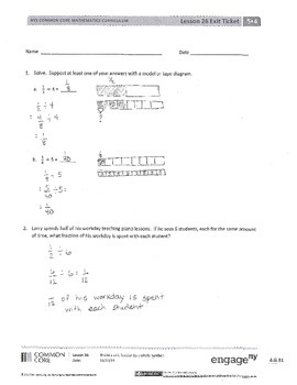 New York State Grade 5 Math Common Core Module 4 Lesson 26 ...