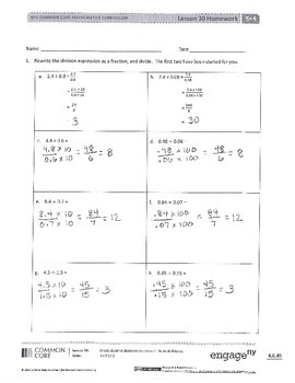 New York State Grade 5 Math Common Core Module 4 Lesson 30 ...