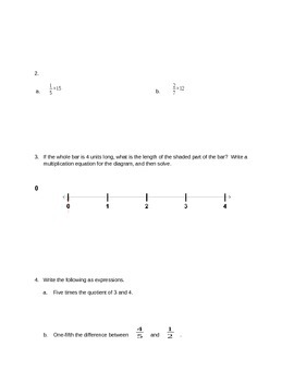 New York State Grade 5 Math Common Core Module 4 Mid Module Test Review Packet