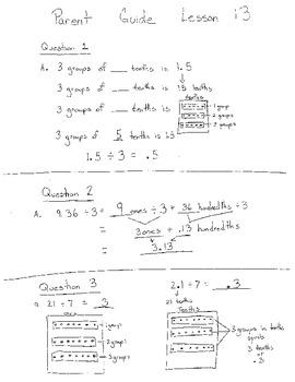 New York State Grade 5 Module 1 Lesson 13 parent guide hom