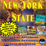 New York State Interactive Notebook Activities Workbook with Test Prep & STEM