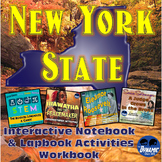 New York State Interactive Notebook and Lapbook Student Workbook Activities