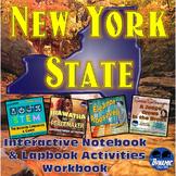New York State Interactive Notebook & Lapbook Student Workbook Activities w/STEM
