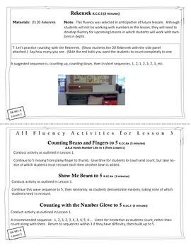 Engage New York / Eureka Math - K - Fluency Activity Cards - Module 1 A