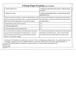 Engage New York / Eureka Math - K - Fluency Activity Cards - Module 1 H