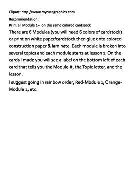 Eureka Math - Kindergarten - Fluency Activity Cards - Module 1 B