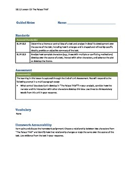 New York State Module 10th Grade Unit 1 Guided Notes