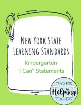New York State Next Generation Learning Standards - Kindergarten I Can Statement