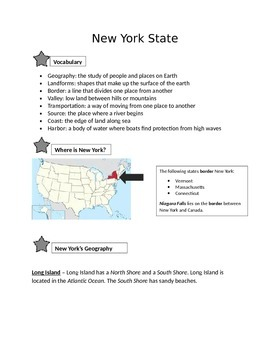 New York State Outline and Review