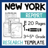 New York State Research Report Project Template + bonus timeline Craftivity NY