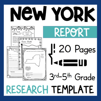 New York State Research Report Project Template + bonus ti