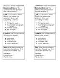 NYS New York State Short Response RACES Writing bookmark ELA Test Prep editable