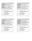 NYS New York State Short Response RAP Writing bookmark ELA Test Prep - editable