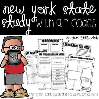 New York State Study with QR codes and graphic organizers