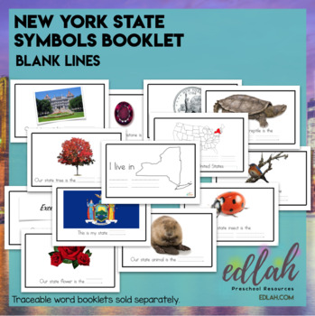 New York State Symbols Booklet-Blank Lines