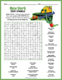 NEW YORK State Symbols Word Search Puzzle Worksheet Activity