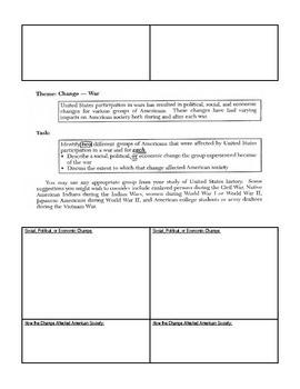 New York State Thematic Essays Graphic Organizers