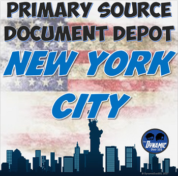 New York State Themed Primary Source Document Depot and Test Prep 6 Pack