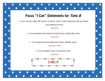 """Engage NY Third Grade Math Module 6 """"I Can"""" Statements Posters"""