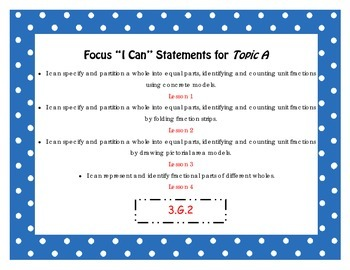 "Engage NY Third Grade Math Module 5 ""I Can"" Statements Posters"