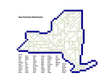 New York State Word Search