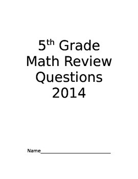 New York State 2014  5th Grade Sample Test Questions For Practice