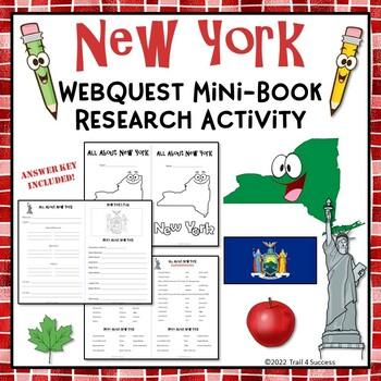New York Webquest Common Core Research Mini Book