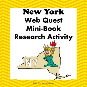 New York Webquest Common Core Research Mini Book